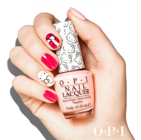 latest-nail-art-trends-spring-summer-2016-nailpolish-opi-hello-kitty
