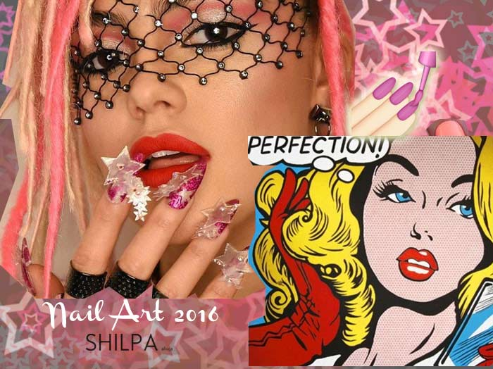 latest-nail-art-trends-spring-summer-2016-stars-pink-3d-outside-big-statement