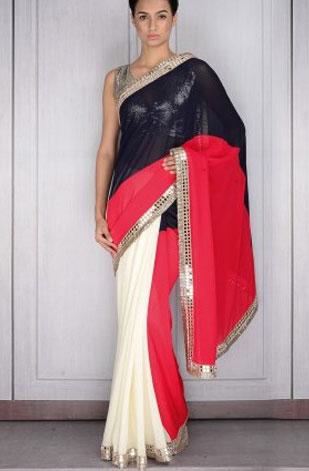 latest-saree-trends-2016-designs-designer-color-pleats-blue-white-pink-manish-malhotra