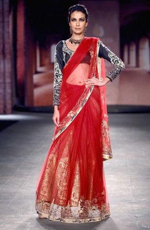 latest-saree-trends-2016-designs-designer-jacket-and-long-sleeves-anju-modi