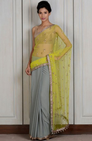 latest-saree-trends-2016-designs-designer-sheer-opaque-mint-gree-manish-malhotra
