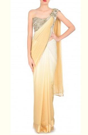 latest-saree-trends-2016-designs-designer-shoulder-embellishment-gaurav-gupta-peach-white