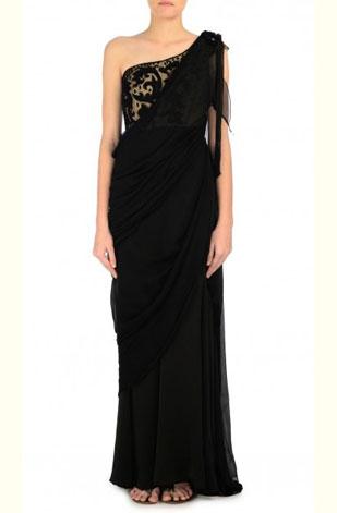 latest-saree-trends-2016-designs-designer-shoulder-embellishment-gaurav-gupta-tarun-tahiliani-black