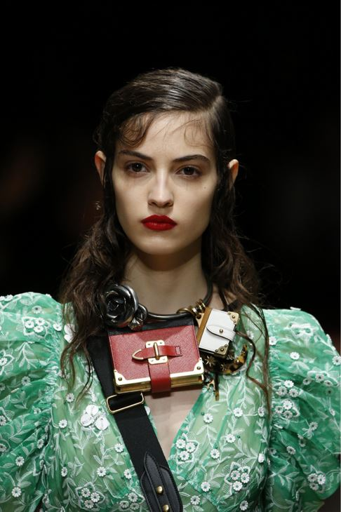 prada-fall-2016-winter-2017-latest-makeup-hairstyle-necklace-charms