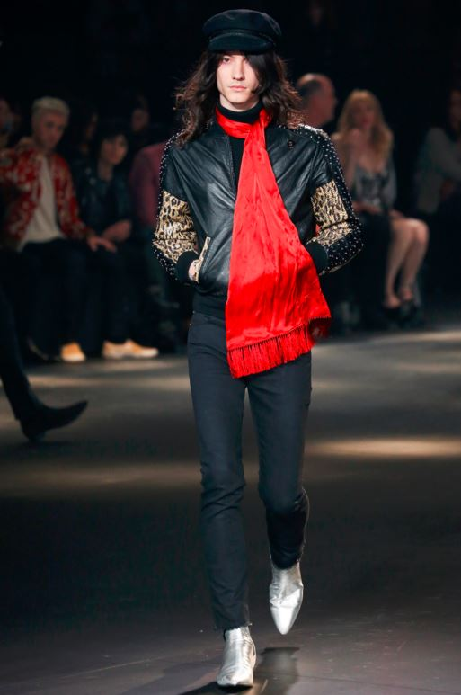saint-laurent-mens-latest-fashion-trends-fall-2016-fashion-show-winter-2017-long-red-scarf