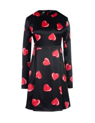 valentine-day-gifts-presents-for-her-girlfriend-wife-black-red-hearts-printed-satin-dress