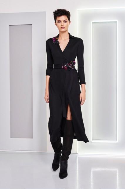 best-top-latest-looks-new-york-fashion-week-fall-2016-ready-to-wear-diane-von-furstenberg-black-cape-dress