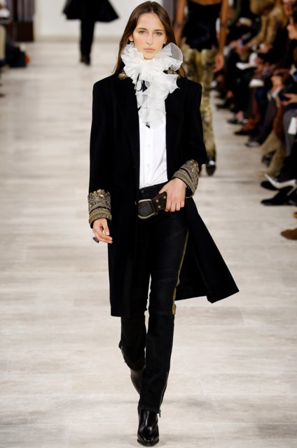 best-top-latest-looks-new-york-fashion-week-fall-2016-ready-to-wear-ralph-lauren-cape-crape-scarf