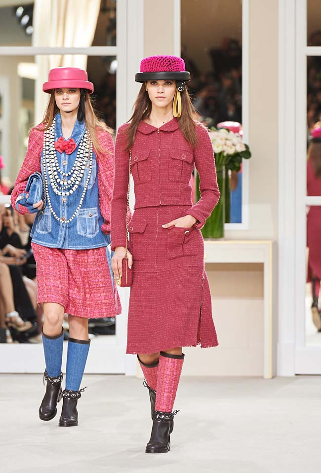 chanel-fall-winter-2016-collection-rtw-ready-to-wear-dresses (7)-fw-outfit-pink-skirt