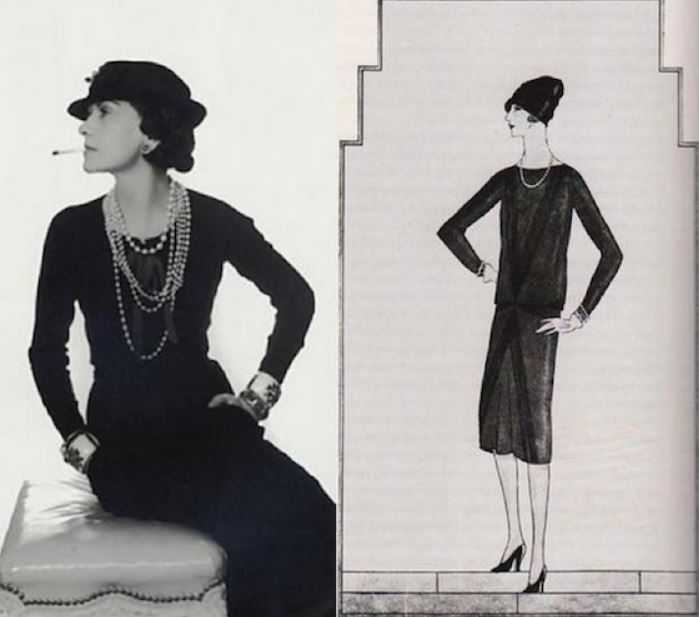 coco chanel lbd black dress history