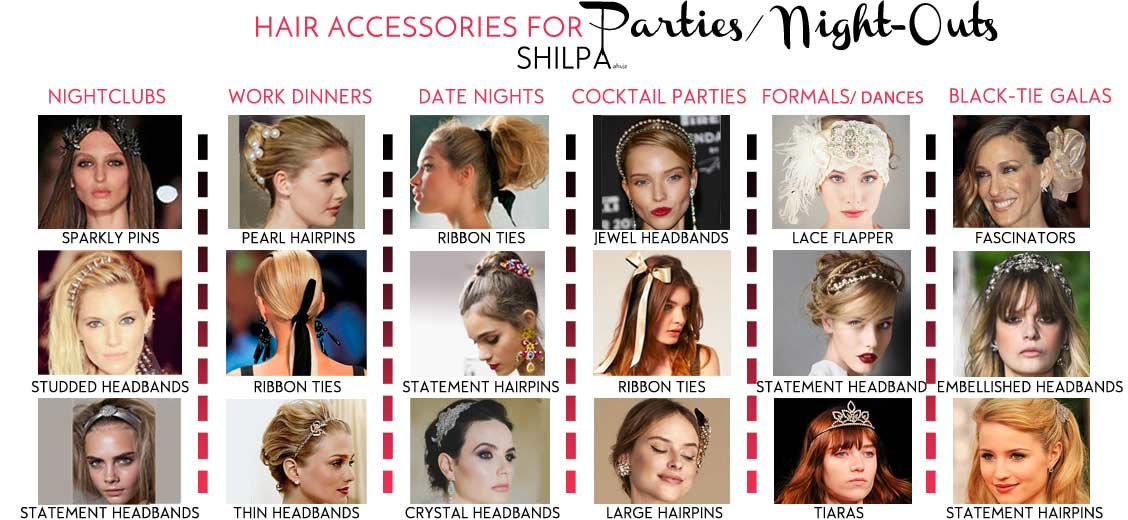 how-to-wear-hair-accessories-with-party-outfits-hairstyles-ideas-for-parties-night-outs-prom-cocktail