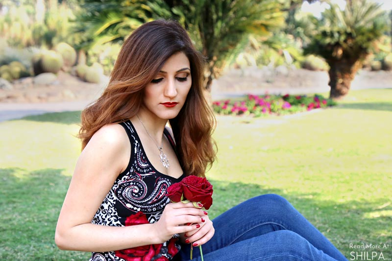 shilpa-ahuja-best-indian-fashion-blogger-rose-look DIY Balayage fashion-street-style