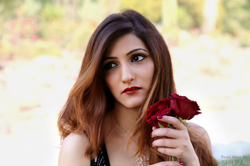 shilpa-ahuja-red-rose-spring-makeup-lipstick-eye-blogger-look