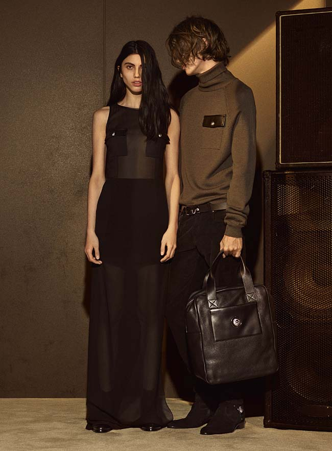 versus-versace-fw16-latest-collection-fashion-fall-winter-2016-outfit (5)-brown-sheer-dress-mens-bag