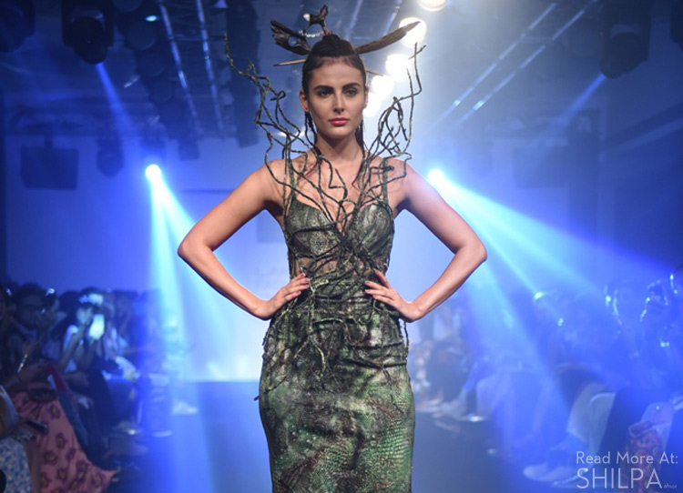 Asa-Kazingmei-Mandana-Karimi-lfw16-spring-resort2016-couture-collection-green-nature-gown