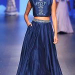 anita-dongre-indian-engagement-party-dresses-lehenga-skirt-crop-top-blue-outfit-2016-designer