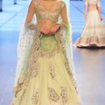 anushree-reddy-indian-engagement-party-lehenga-cream-green-outfit-2016-designer-beautiful