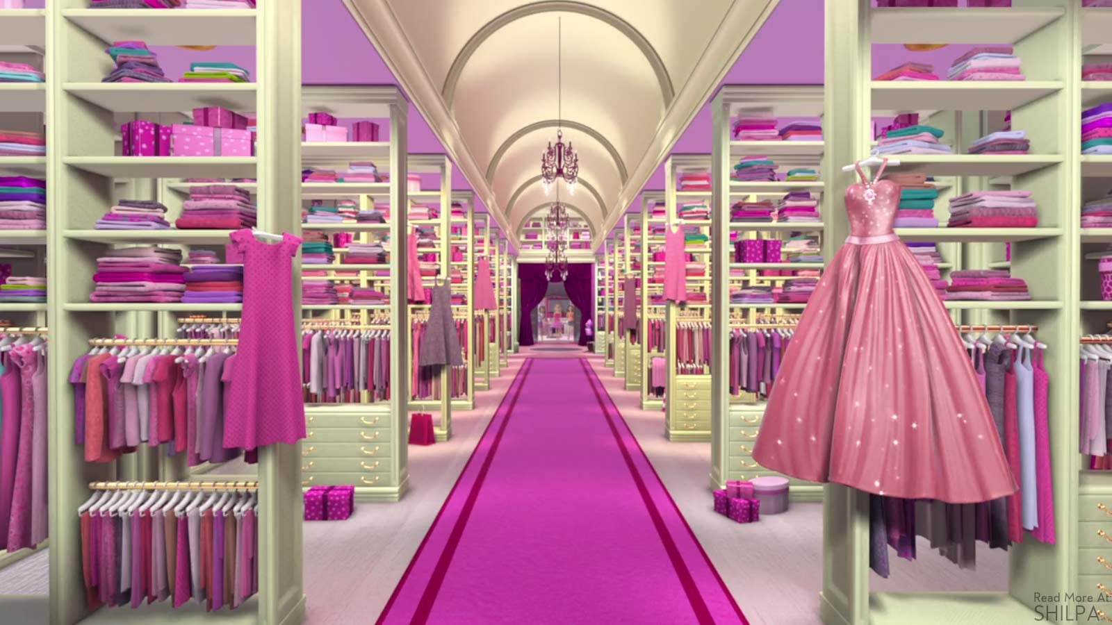 barbie-life-in-the-dreamhouse-closet-large-biggest-pink-dresses-wardrobe-cartoon-doll