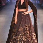 indian-engagement-party-dress-neeta-lulla-brown-gold-gown-outfit-2016-designer-beautiful