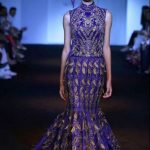 indian-engagement-party-dresses-gown-asymmetric-blue-gold-lalit-dalmia-indowestern-outfit-2016-designer