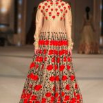 indian-engagement-party-dresses-gown-rohit-bal-red-beige-gold-indowestern-outfit-what-to-wear-2016-designer