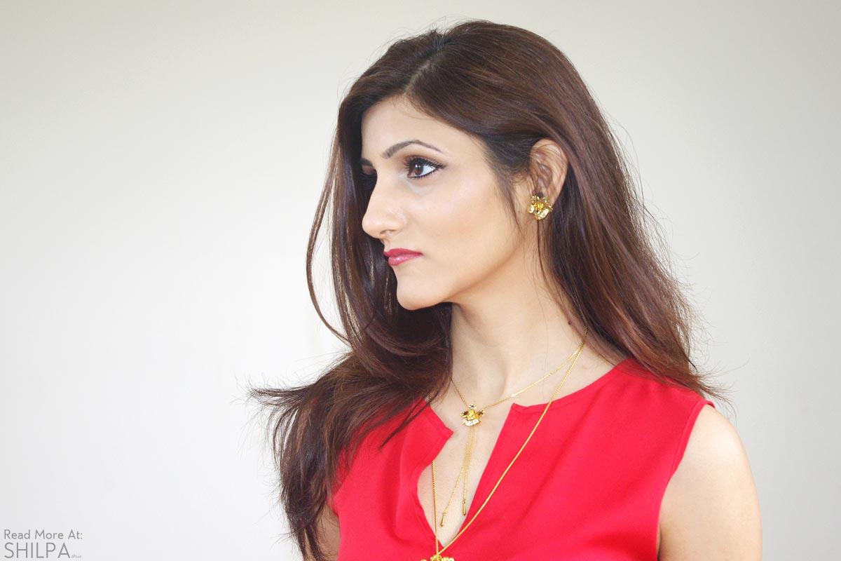 indian-fashion-blogger-shilpa-ahuja-makeup-beauty-red-top-summer-look-pic-style