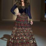 kareena-kapoor-indian-engagement-party-dresses-gown-rohit-bal-navy-royal-indowestern-outfit-showstopper-2016-designer