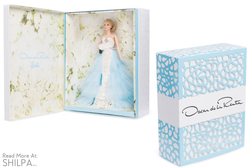 oscar-de-la-renta-bridal-barbie-white-blue-box-design-dress-beautiful-designer-gown