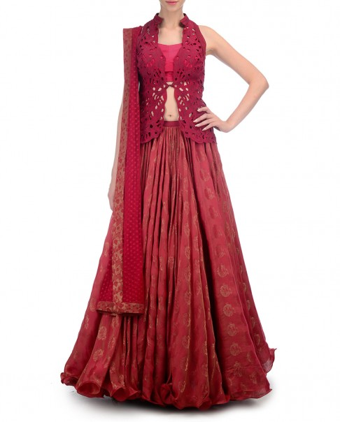 red-bridal-lehenga-designs-spring-summer-2016-latest-choli-jacket-expressionist-by-jaspreet