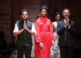 shantanu-nikhil-aw16-dress-aifw-amazon-india-fashion-week-2016-autumn-winter gown (4)-red-finale