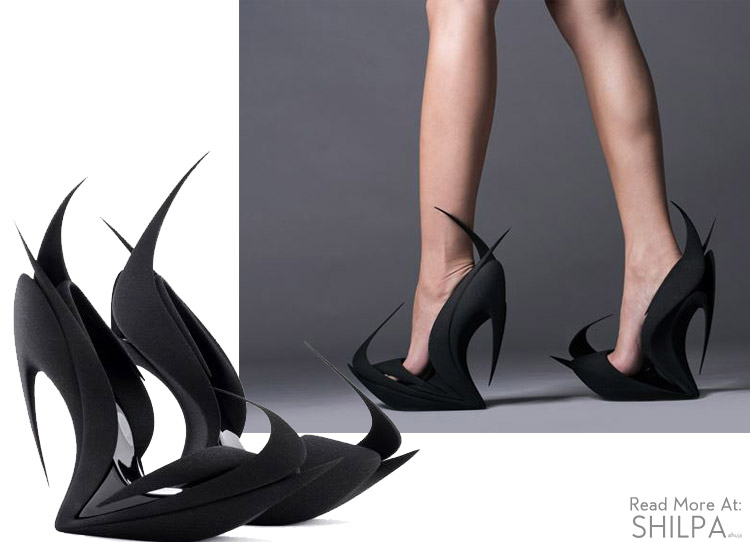 zaha-hadid-united-nude-flames-shoe-black-architectural-3d-fashion-designer-architect-crazy