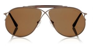 Latest-luxury-mens-sunglasses-2016-tom-ford-rose-gold-brown-aviator