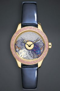 Latest-luxury-womens-designer-watches-dior-inverse-white-gold-rose-blue-strap-round-floral-diamond