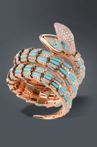 Latest-luxury-womens-ladies-watches-bvlgari-blue-turquoise-gold-serpentine-snake-diamond
