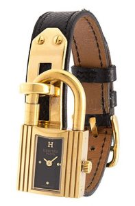 Latest-luxury-womens-ladies-watches-hermes-vintage-padlock-dial-black-leather