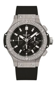 Latest-luxury-womens-ladies-watches-hublot-black-steel-diamond-round-big-bang