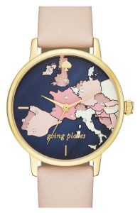 Latest-luxury-womens-ladies-watches-kate-spade-vachetta-leather-round-pink-blue