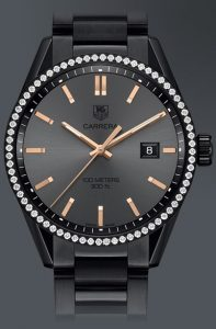 Latest-luxury-womens-ladies-watches-tag-heuer-black-diamond-round