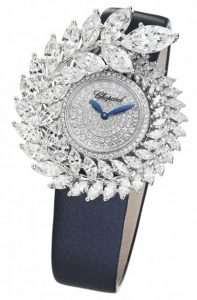 Latest-womens-designer-watches-chopard-diamond-dial-blue-strap-formal