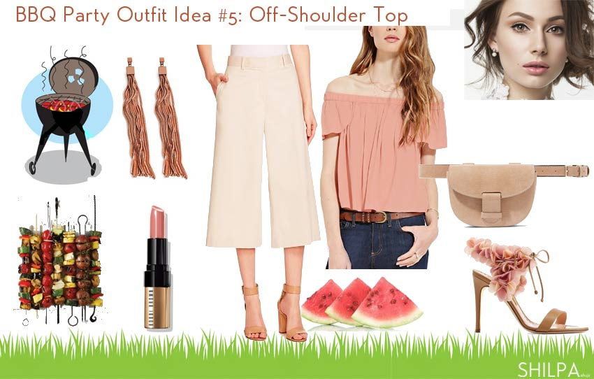 bbq_party-outfits-what-to-wear-to-barbecue-party-off-shoulder-elegant-casual-summer-cultottes
