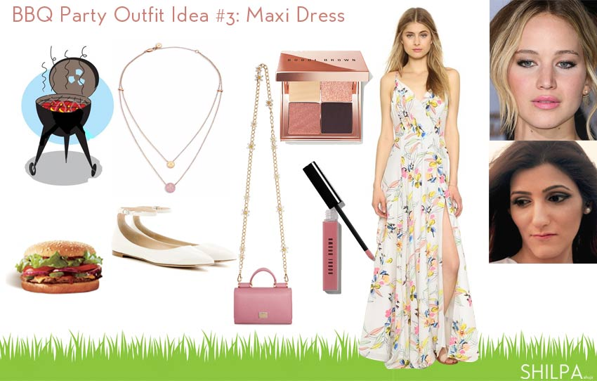 bbq_party-outfits-what-to-wear-to-barbecue-party-summer-maxi-dress-makeup-idea