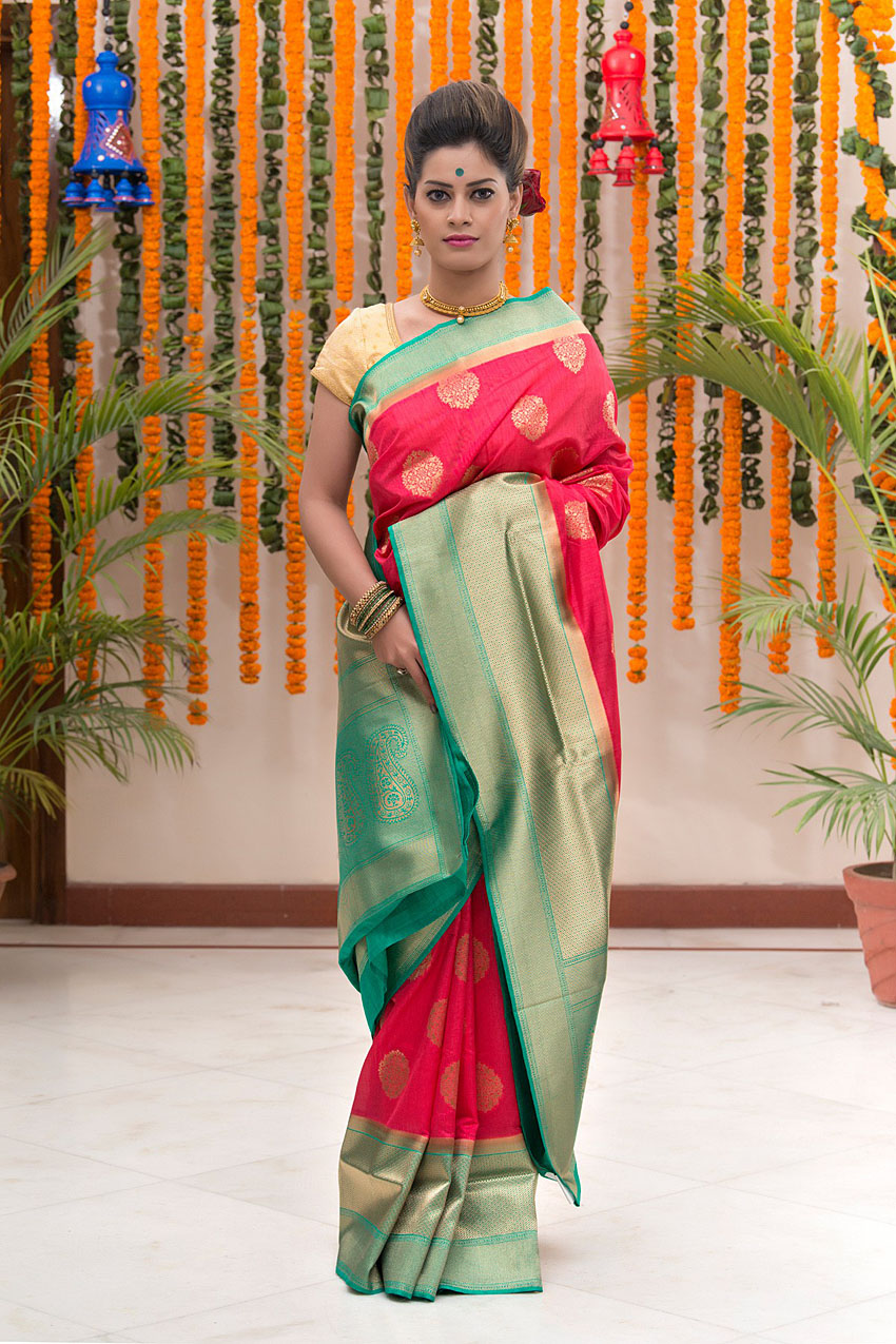 bharatsthali-types-of-silk-sarees-indian-ethnic-wear-fashion-style (12)-Matka Silk
