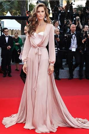 cannes-film-festival-2016-celeb-dress-Izabel-Goulart-Victorias-Secret-Angel-Ralph-Russo-nude-silk-satin-chiffon-robe-summer-Spring-2016-couture