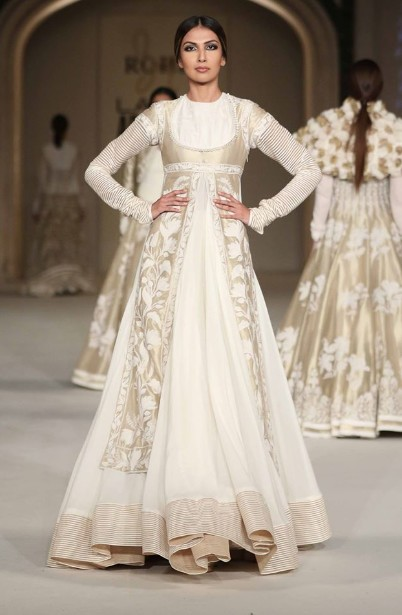 latest-indian-suit-trends-designs-rohit-bal-2016-cream-thick-bordered-anarkali