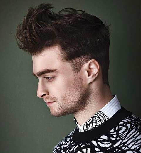 latest-mens-hairstyle-trends-2016-men-style-haircut-Daniel-Radcliffe-spiky-haircut-with-short-side-burns