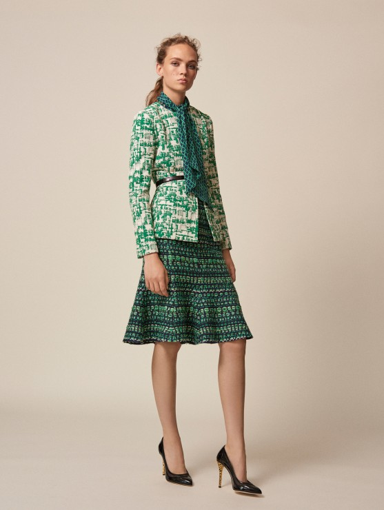 oscar-de-la-renta-resort-2016-fashion-collection-dress-outfit (16)-green-lady-like-jacket