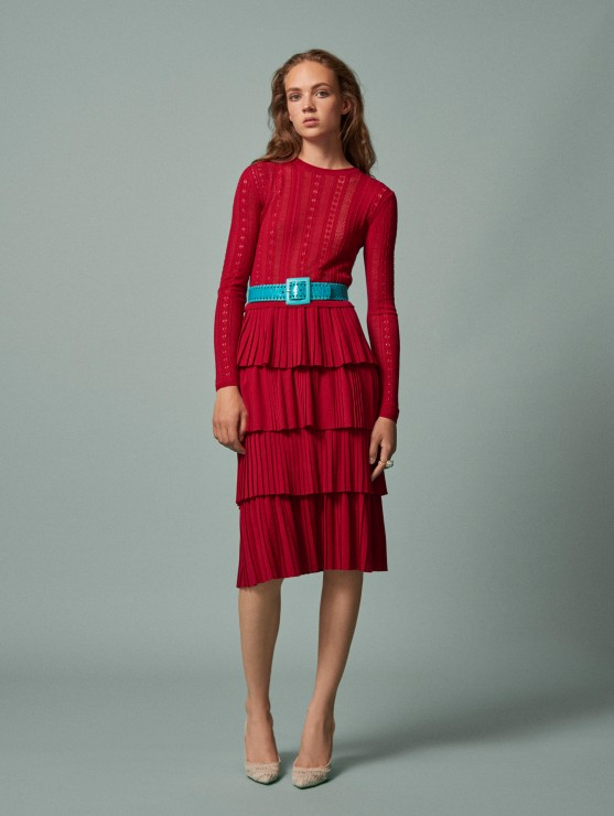 oscar-de-la-renta-resort-2016-fashion-collection-dress-outfit (18)-red-layered