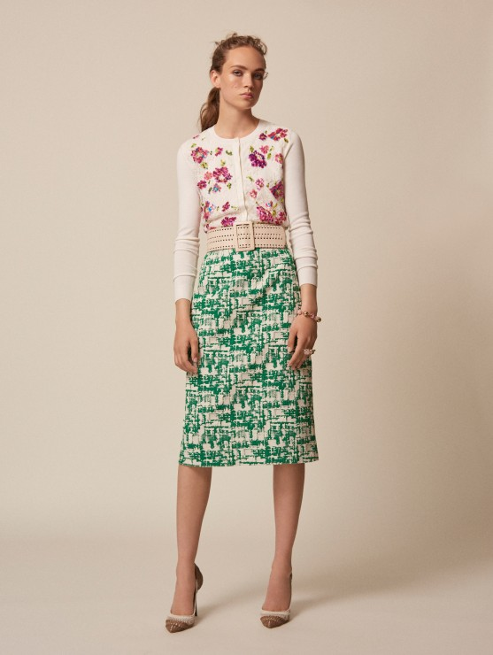 oscar-de-la-renta-resort-2016-fashion-collection-dress-outfit (19)-green-skirt