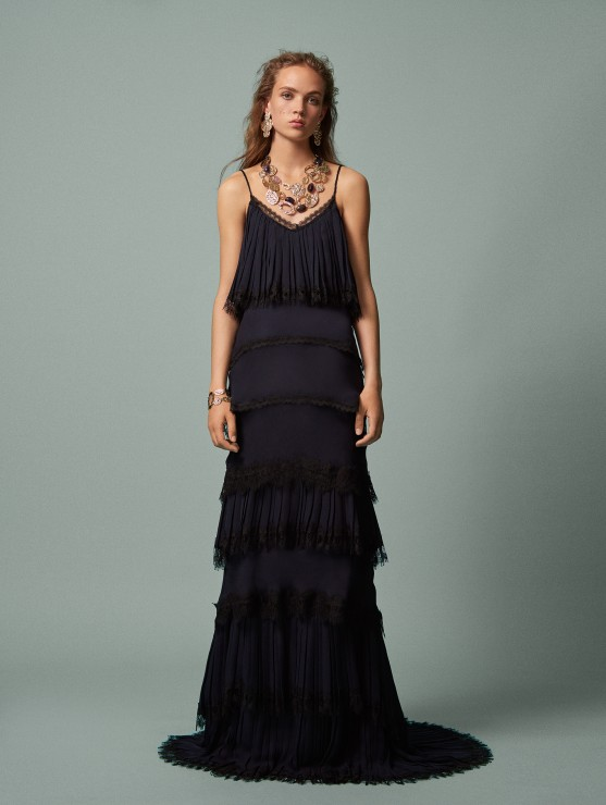 oscar-de-la-renta-resort-2016-fashion-collection-dress-outfit (23)-black-tiered