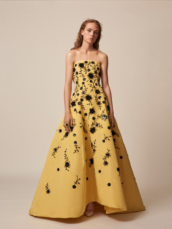 oscar-de-la-renta-resort-2016-fashion-collection-dress-outfit (28)-yellow-floral-gown